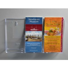 Wall Mounted DLx3 Portrait Leaflet Dispenser