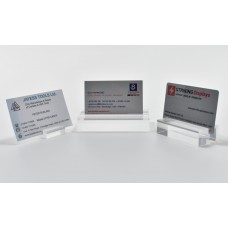 Acrylic  Slotted Block card Holder