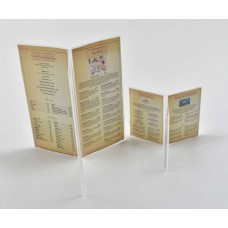 Menu Card Stand 6 Face Display