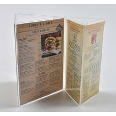 Menu Card Stand 3 Face Display