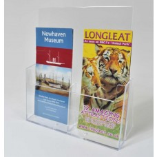 Freestanding DLx2 Portrait Leaflet Dispenser