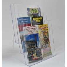 Freestanding A4 3 Tier Portrait Leaflet Dispenser