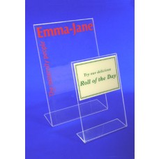 Printed Acrylic Tilted Card Holders