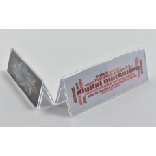 Double Side Tent Card Holder