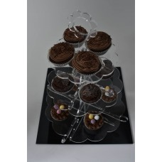 Flat Packed Clear Acrylic 3 Tier Cake Stand